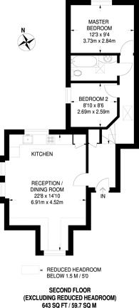 Large floorplan for Kenton Road, Harrow, HA1