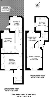 Large floorplan for Clifton Villas, Little Venice, W9
