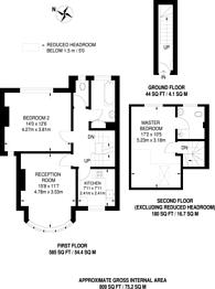 Large floorplan for Kenton Lane, Harrow Weald, HA3