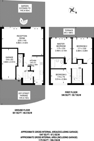 Large floorplan for Sherland Road, Twickenham, TW1