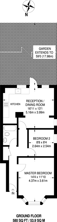 Large floorplan for Fairholme Road, Harrow, HA1