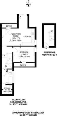 Large floorplan for Wavendon Avenue, Chiswick, W4