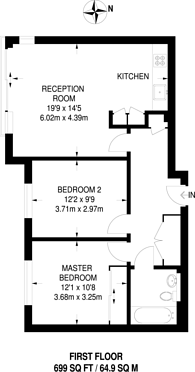 Large floorplan for Borland Road, Nunhead, SE15