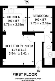 Large floorplan for Claremont Avenue, New Malden, KT3