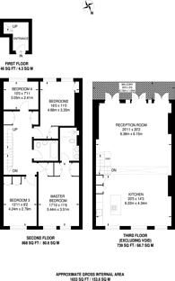 Large floorplan for Sinclair Road, Brook Green, W14