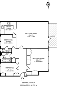 Large floorplan for Regents park Road, Finchley Central, N3