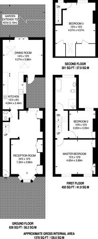 Large floorplan for Wiseton Road, Bellevue Village, SW17