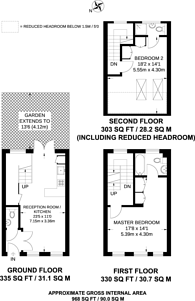 Large floorplan for Wandsworth Road, Wandsworth, SW8