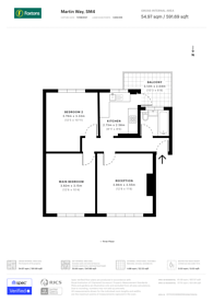Large floorplan for Martin Way, Morden, SM4
