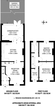 Large floorplan for Beverley Road, New Malden, KT3