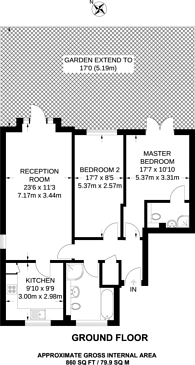 Large floorplan for Elmers End Road, Beckenham, BR3
