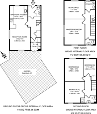 Large floorplan for Monument Gardens, Lewisham, SE13