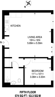 Large floorplan for Lillie Square, Earls Court, SW6