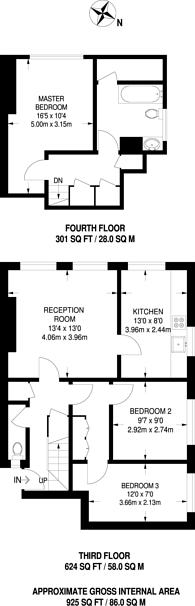 Large floorplan for Watts Street, Wapping, E1W