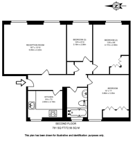 Large floorplan for Wyndham Street, Marylebone, W1H
