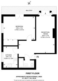 Large floorplan for Cheniston Gardens, Kensington, W8