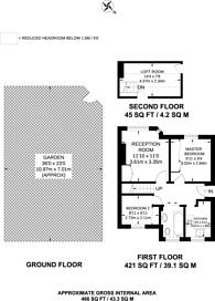 Large floorplan for Deer Park Gardens, Mitcham, CR4