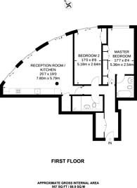 Large floorplan for Hortensia Road, Chelsea, SW10