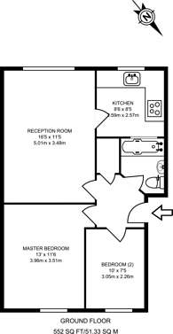 Large floorplan for Aylesbury Close, Stratford, E7