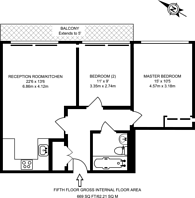 Large floorplan for Copperfield Mews, Bethnal Green, E2