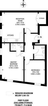 Large floorplan for Aldebert Terrace, Stockwell, SW8
