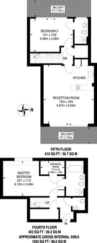 Large floorplan for Great West Road, Ravenscourt Park, W6