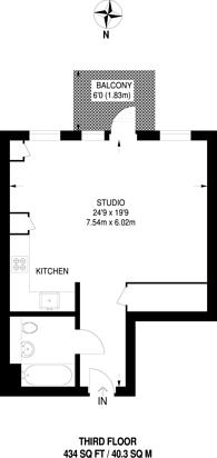 Large floorplan for Kingston Road, Wimbledon, SW20