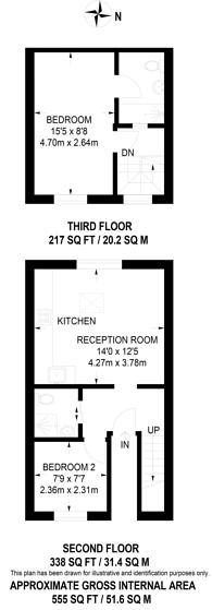 Large floorplan for Dane Road, Ealing, W13