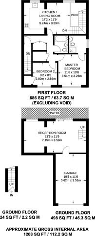 Large floorplan for Albury Road, Guildford, GU1