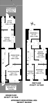 Large floorplan for Rosedale Road, Forest Gate, E7