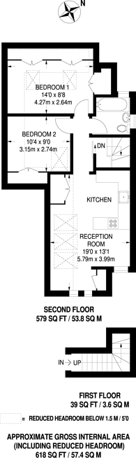 Large floorplan for Golders Green, Golders Green, NW11