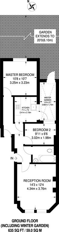 Large floorplan for Honor Oak Park, Honor Oak Park, SE23