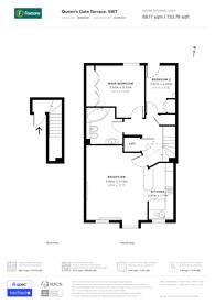 Large floorplan for Queens Gate Terrace, South Kensington, SW7