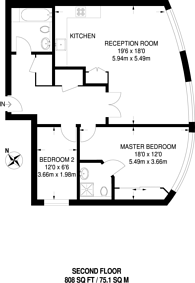 Large floorplan for Garden Walk, Shoreditch, EC2A