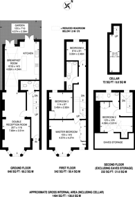 Large floorplan for Shuttleworth Road, Battersea Square, SW11