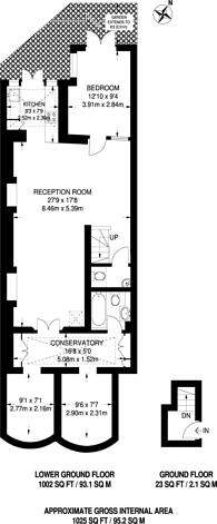 Large floorplan for Lupus Street, Pimlico, SW1V