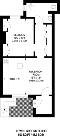 Large floorplan for Wilmington Square, Clerkenwell, WC1X