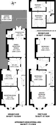 Large floorplan for Elsenham Street, Southfields, SW18
