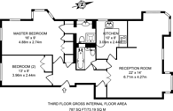 Large floorplan for Falcon Way, Isle Of Dogs, E14