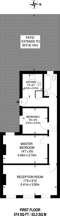Large floorplan for Sussex Place, New Malden, KT3