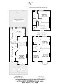 Large floorplan for Crossway, Raynes Park, SW20