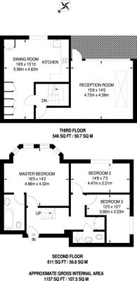 Large floorplan for Belvedere Hall, Queen's Park, NW6