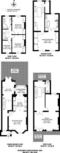 Large floorplan for Kensington Gate, Kensington, W8