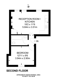 Large floorplan for Gondar Gardens, West Hampstead, NW6