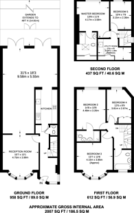 Large floorplan for Temple Fortune, Temple Fortune, NW11