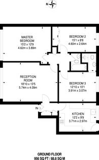 Large floorplan for Mackennal Street, St John's Wood, NW8
