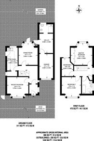 Large floorplan for Dale Park Road, Norwood, SE19