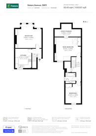 Large floorplan for Sisters Avenue, Clapham Common North Side, SW11
