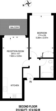 Large floorplan for Alie Street, Aldgate, E1