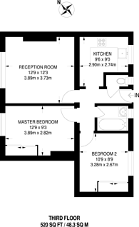 Large floorplan for Peckham Rye, Peckham Rye, SE15